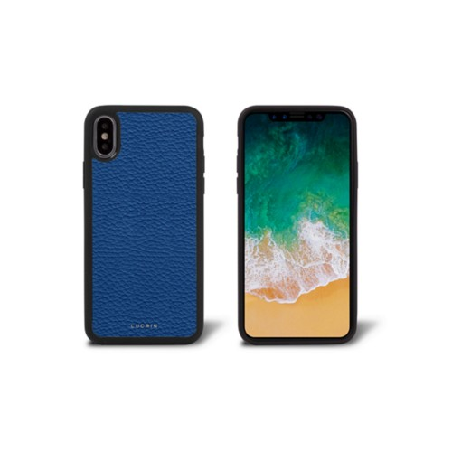 iPhone X Cover - Royal Blue - Granulated Leather