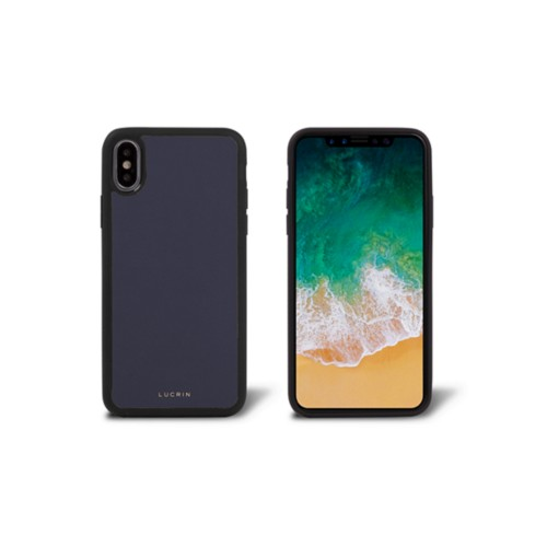 iPhone X Cover - Purple - Smooth Leather
