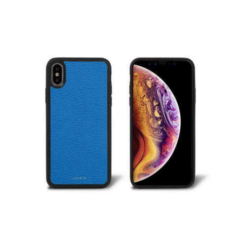 Funda para iPhone XS - Cielo Azul  - Piel de Cabra