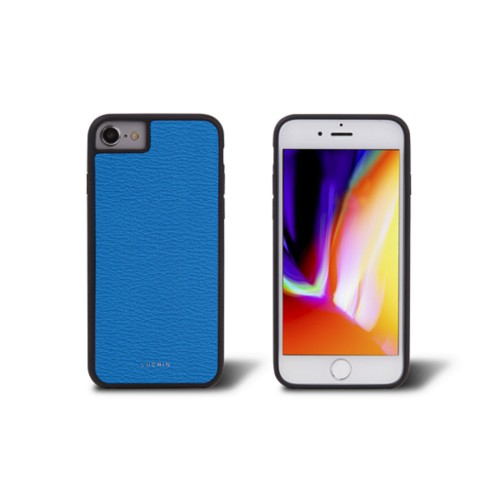 iPhone 8 cover - Royal Blue - Goat Leather