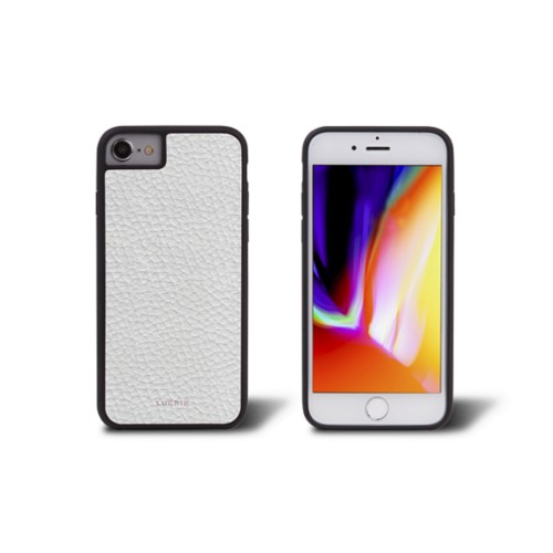 iPhone 8 cover - White - Granulated Leather