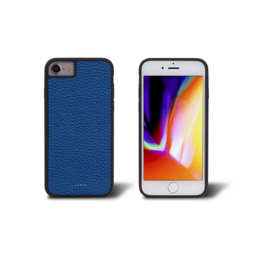 iPhone 8 cover - Royal Blue - Granulated Leather