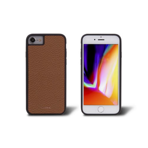 iPhone 8 cover - Tan - Granulated Leather