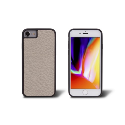 iPhone 8 cover - Light Taupe - Granulated Leather