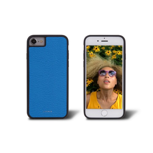 iPhone 7 cover - Royal Blue - Goat Leather