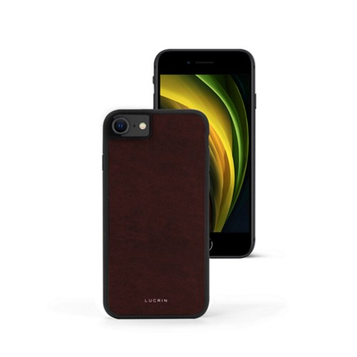 iPhone SE Cover - Dark Brown - Vegetable Tanned Leather