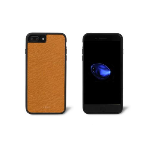 Carcasa para iPhone 7 Plus - azafrán amarillo - Piel de Cabra