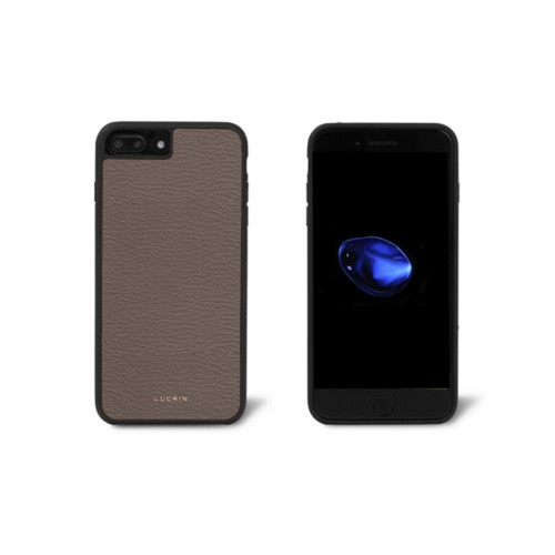 Carcasa para iPhone 7 Plus - Marrón topo - Piel de Cabra