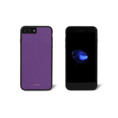 Carcasa para iPhone 7 Plus - Violeta - Piel de Cabra