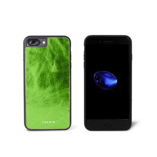 Iphone-7-Plus-Hülle - Hellgrün - Glänzendes Leder