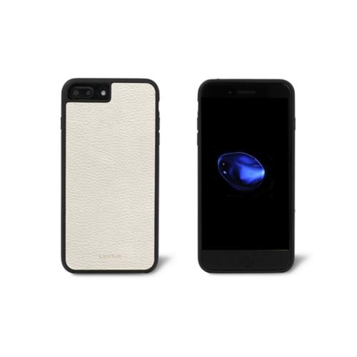 Iphone-7-Plus-Hülle - Gebrochen Weiß - Genarbtes Leder
