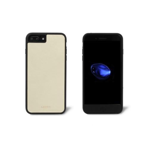 Iphone-7-Plus-Hülle - Gebrochen Weiß - Glattleder