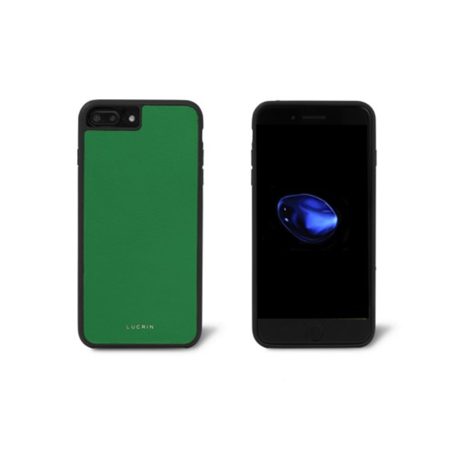 Iphone-7-Plus-Hülle - Hellgrün - Glattleder