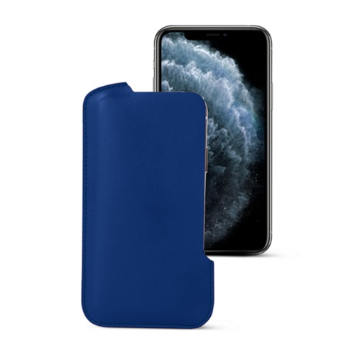 iPhone X pouch - Royal Blue - Smooth Leather