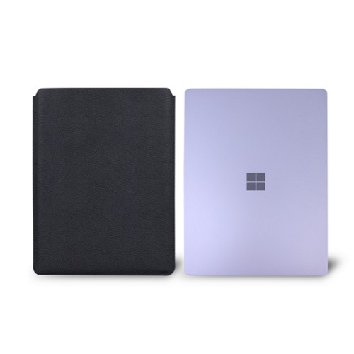 Surface Laptop Sleeve - Navy Blue - Granulated Leather