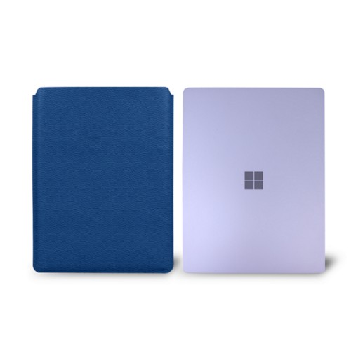 Surface Laptop Sleeve - Royal Blue - Granulated Leather