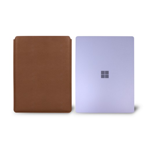 Surface Laptop Sleeve - Tan - Granulated Leather
