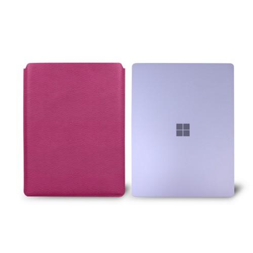 Surface Laptop Sleeve - Fuchsia  - Granulated Leather
