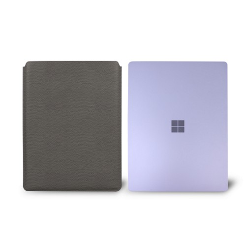 Surface Laptop Sleeve - Mouse-Grey - Granulated Leather