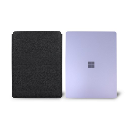 Surface Laptop Sleeve - Black - Granulated Leather