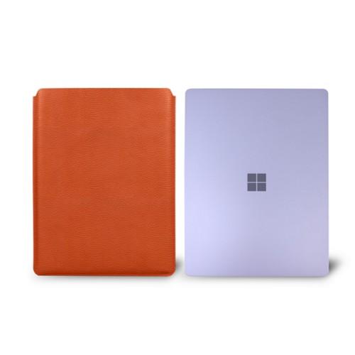 Surface Laptop Sleeve - Orange - Granulated Leather