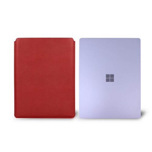 Surface Laptop Sleeve - Red - Granulated Leather