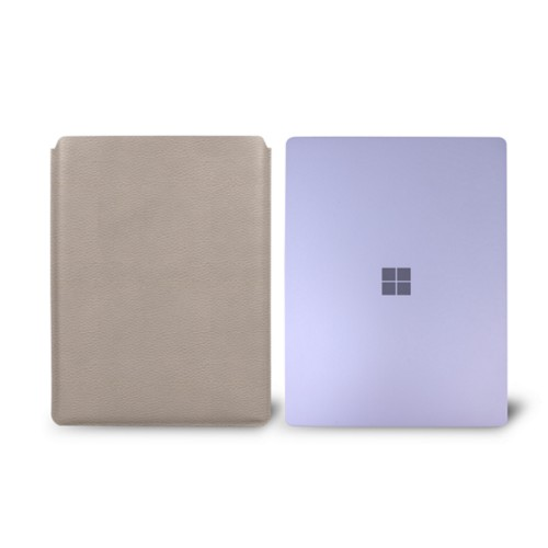 Surface Laptop Sleeve - Light Taupe - Granulated Leather