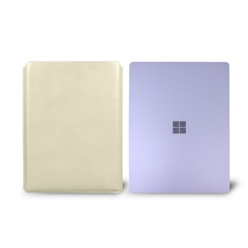 Surface Laptop Sleeve - Off-White - Smooth Leather