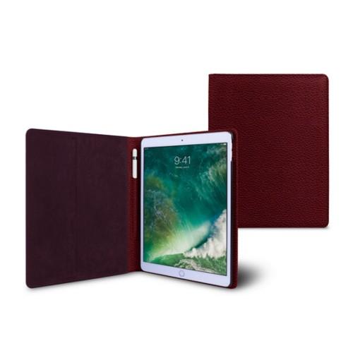 10,5 Zoll iPad Pro-Hülle - Weinrot - Genarbtes Leder