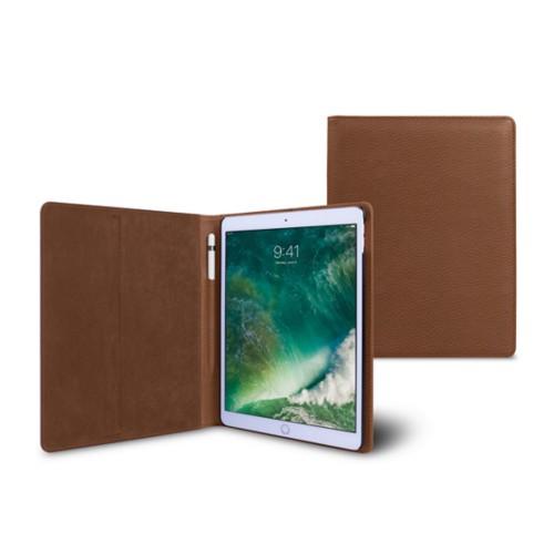 10,5 Zoll iPad Pro-Hülle - Cognac - Genarbtes Leder