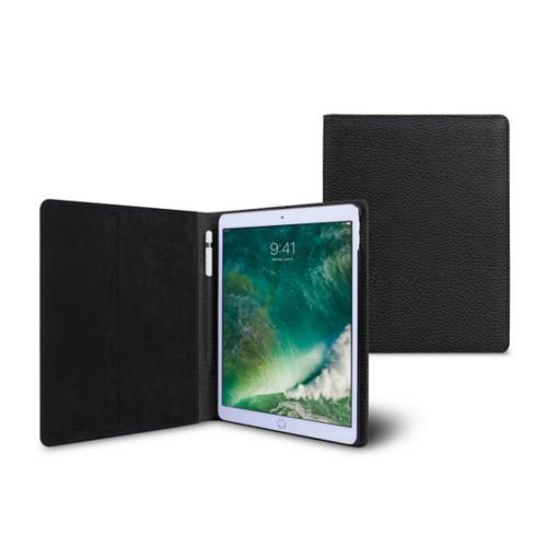 10,5 Zoll iPad Pro-Hülle - Schwarz - Genarbtes Leder