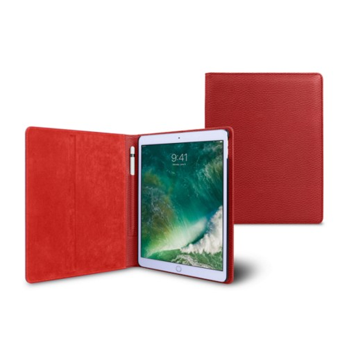 10.5 inch iPad Pro Case - Red - Granulated Leather