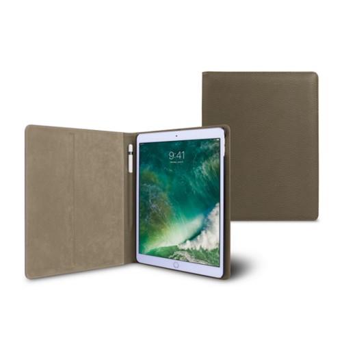 10,5 Zoll iPad Pro-Hülle - Dunkeltaupe - Genarbtes Leder