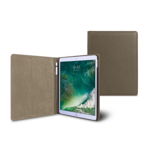 10,5 Zoll iPad Pro-Hülle - Dunkeltaupe - Glattleder