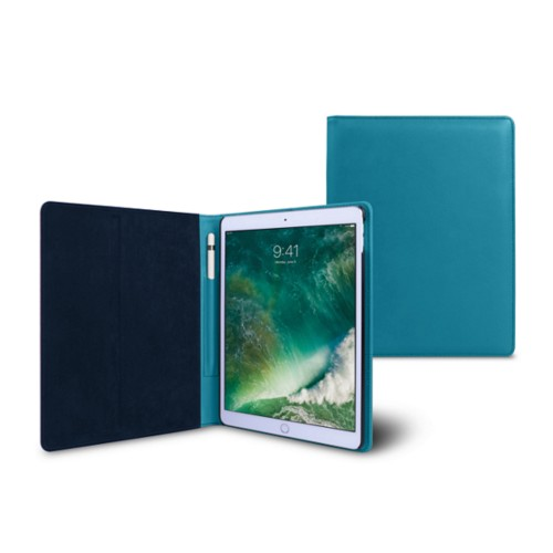 Coque iPad Pro10,5 pouces - Turquoise - Cuir Lisse
