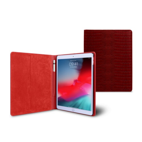 iPad Air Folder Case - Red - Crocodile style calfskin