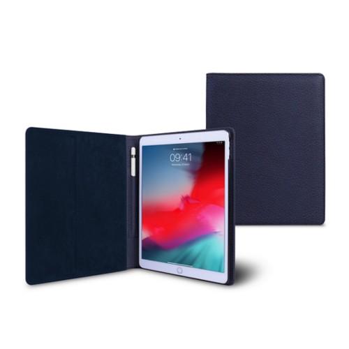 Funda tipo libro para iPad Air - Azul marino  - Piel Grano
