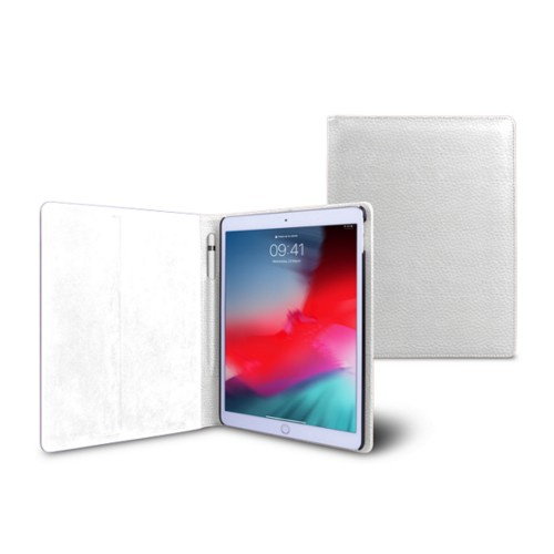 iPad Air Folder Case - White - Granulated Leather