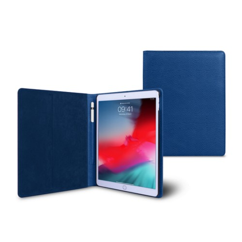 iPad Air Folder Case - Royal Blue - Granulated Leather