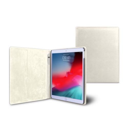 Coque iPad Air - Blanc Cassé - Cuir Grainé