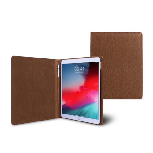 iPad Air Folder Case - Tan - Granulated Leather