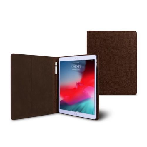 iPad Air フォルダーケース - Dark Brown - Granulated Leather
