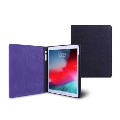 iPad Air Folder Case - Purple - Granulated Leather