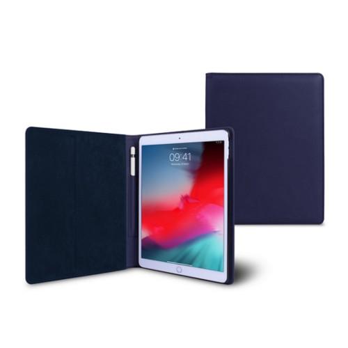 Funda tipo libro para iPad Air - Azul marino  - Piel Liso