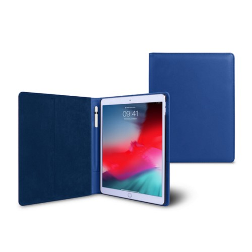 iPad Air Folder Case - Royal Blue - Smooth Leather