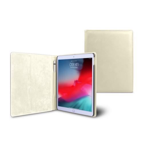 Coque iPad Air - Blanc Cassé - Cuir Lisse