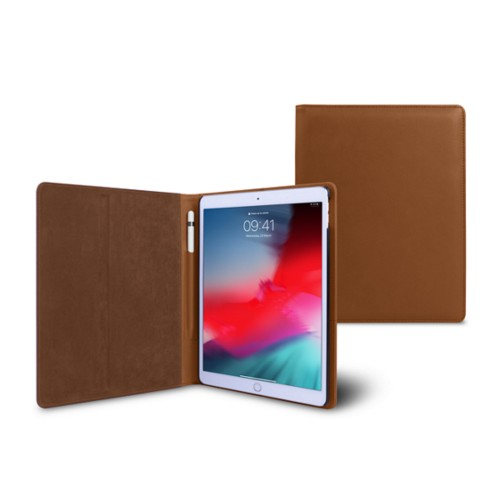 iPad Air Folder Case - Tan - Smooth Leather