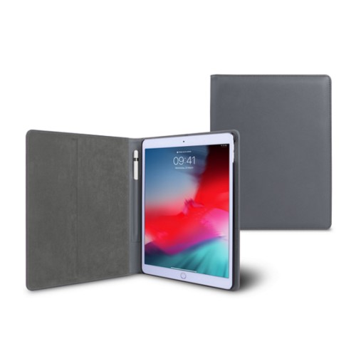 iPad Air Folder Case - Mouse-Grey - Smooth Leather
