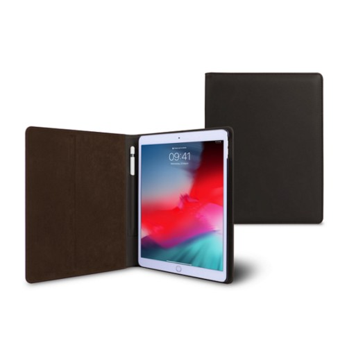 iPad Air フォルダーケース - Dark Brown - Smooth Leather