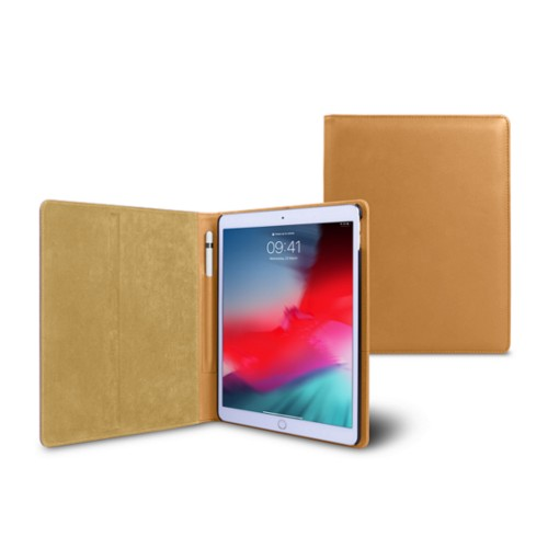 iPad Air Folder Case - Natural - Smooth Leather